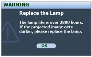 BenQ MP770 First Warning Messages, BenQ 5J.J1S01.001 MP770 lamp