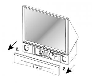 Mitsubishi WD-52525-remove speaker
