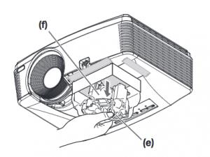 Mitsubishi_WD570U_projector_lamp_VLT-XD560LP_install_new