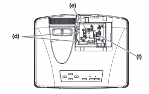 Mitsubishi_WD570U_projector_lamp_VLT-XD560LP_replace