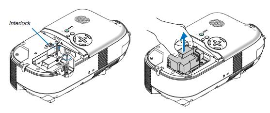 NEC LT180_projector_lamp_NEC LH02LP_remove_lamp
