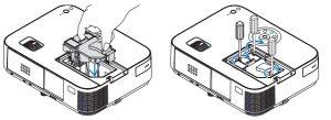 NEC_M403W_projector_Lamp_insert_NEC NP27LP
