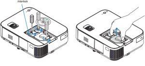 NEC_M403W_projector_lamp_remove-_NEC NP27LP