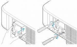 NEC_NP1000_projector_NEC-NP01LP_install_new_lamp
