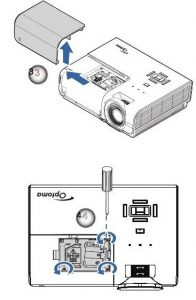 Optoma_EH500_projector_Optoma_BL-FU310B_remove_lamp