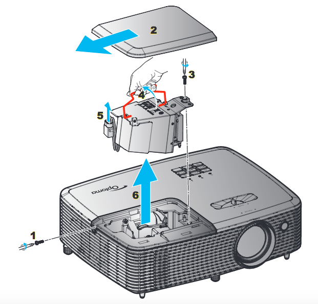 Optoma_HD27_projector_lamp_SP.77011GC01_replace