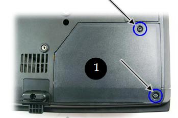 Optoma_TS400_remove_cover_screws_BL-FU180A_projector_lamp
