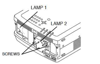 Sanyo PLC-EF30 lamp assembly, Sanyo POA-LMP39 service part no 610 292 4848