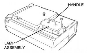 Sanyo PLC-XW10 lamp cage
