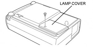 Sanyo PLC-XW10 lamp cover