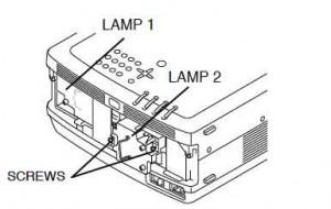 Sanyo PLC-XF35/F35NL/PLC-XF35N Lamp Replacement