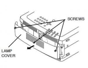 Sanyo PLC-XF35/F35NL/PLC-XF35N Lamp Cover