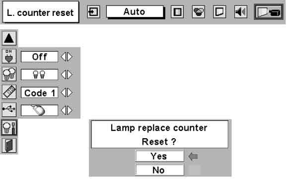 Sanyo PLC-EF30 lamp counter reset, Sanyo POA-LMP39 service part no 610 292 4848