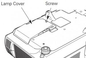 Sanyo PLC-XL40 lamp cover, Sanyo POA-LMP106 service part no 610 332 3855