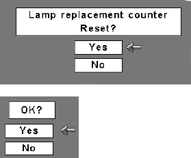 Sanyo PLC-XL40 lamp reset counter, Sanyo POA-LMP90 service part no 610 323 0726