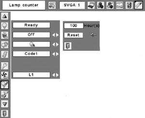 Sanyo PLC-XL40 lamp reset counter, Sanyo POA-LMP90 service par no 610 323 0726