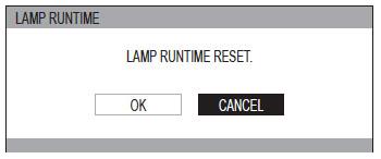 Panasonic PT-AR100U_projector_LAA-110_projector_lamp_reset