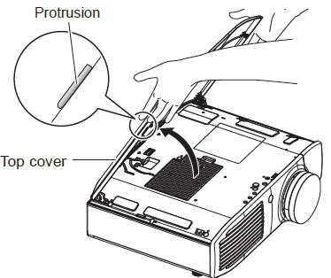 Panasonic PT-AR100U_projector_LAA-110_remove_projector_lamp_cover