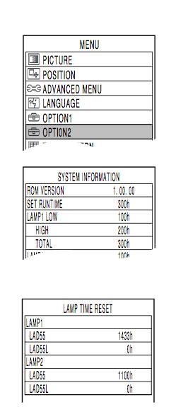 Panasonic_PT-D5500UL_projector_reset_Panasonic_ET-LAD55_projector_lamp_timer