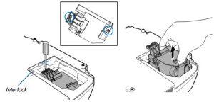 Projector_VT480_remove_NEC-VT85LP_projector_lamp