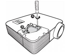 SMARTBoard_680iv_projector_lamp_50030764_remove_old_lamp_screw