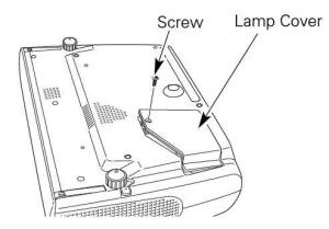 Sanyo_LP-Z2_projector_Sanyo_POA-LMP69_Remove_projector_lamp_cover