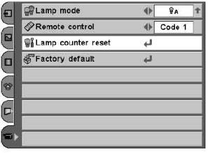 Sanyo_LP-Z2_projector_Sanyo_POA-LMP69_projector_lamp_reset_timer