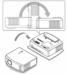 Setting_up_Sony_VPL-AW10_projector_Sony_-LMP-H160_lamp-
