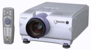Sharp-XG-P10XU_projector_with_Sharp-BQC-XGP10XU_projector_lamp