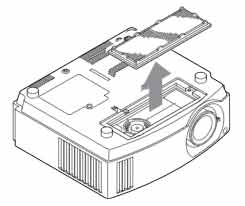Sony_VPL-AW10_projector_Sony_LMP-H160_replace_air_filter