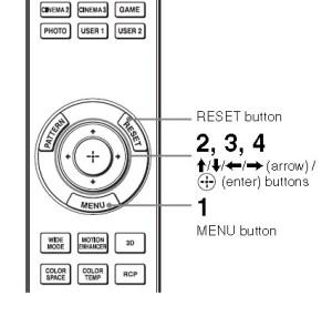 Sony_VPL-HW30ES_remote_menu_control
