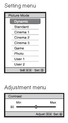 Sony_VPL-HW30ES_setting_menu