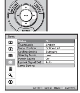 Sony_VPL-HW30ES_submenu_choices