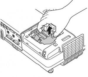 Epson-Powerlite-83V+-remove-Epson-ELPLP42-projector-lamp