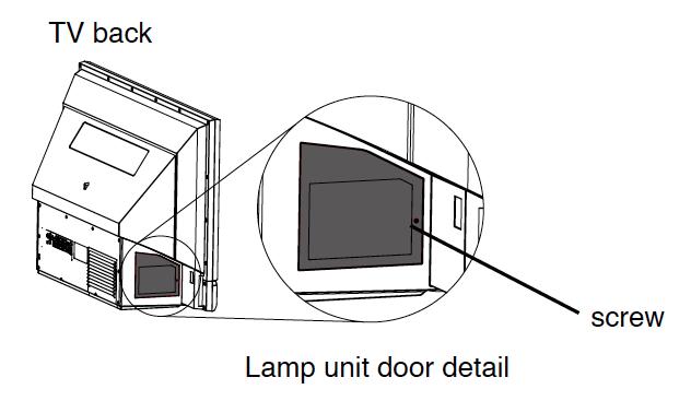 Toshiba_42HM66_TV_projector_lamp_D42-LMP_door