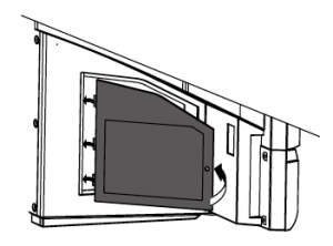 Toshiba_42HM66_TV_projector_lamp_D42-LMP_replace_door