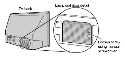 Toshiba_50HM66_projector_lamp_Y66-LMP_lamp door
