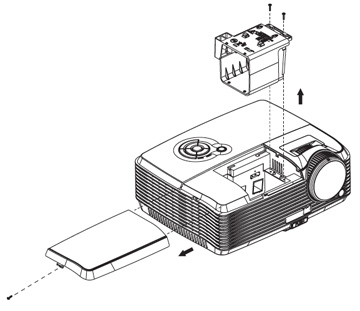 ViewSonic-PJD6241_projector_change_RLC-049-Projector-Lamp