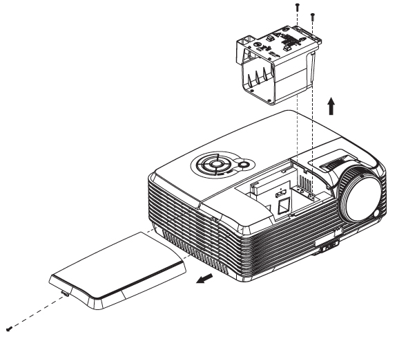 This helpful how-to-guide shows you how to replace the Viewsonic PJD6381 projector  lamp.