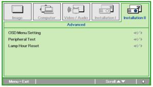 Vivitek_D825EX_projector_1000055_Reset_projector_lamp_hours