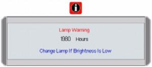 BenQ PB2250 first lamp warning, BenQ 59.J9301.CG1