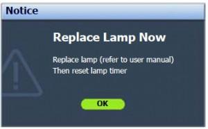 BenQ SP920P Final Warning Message, BenQ 5J.J2D05.001 lamp