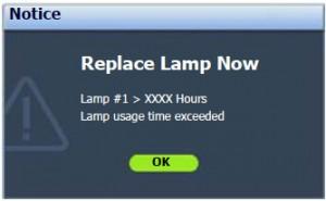 BenQ SP920P Third Warning Message, BenQ 5J.J2D05.001 lamp