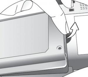 BenQ PB2250 removing lamp cover, BenQ 59.J9301.CG1