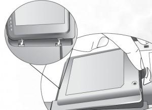 BenQ PB2250 lamp cover installed, BenQ 59.J9301.CG1
