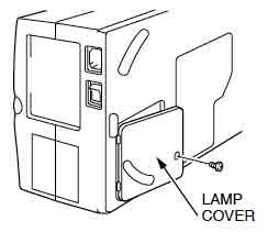 Sanyo PLC-XU30 lamp cover, Sanyo POA-LMP35 service part no 6102932751