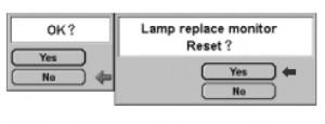 Sanyo PLC-XF40 lamp reset counter,  Sanyo POA-LMP42 service part not 6102924831