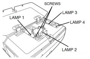 Sanyo PLC-XF45 lamp unit, Sanyo POA-LMP49 service parts no 610 300 0862