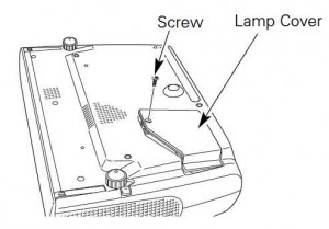 Studio Experience 2HD lamp cover, Sanyo POA-LMP69 projector lamp service parts no 610 309 7589