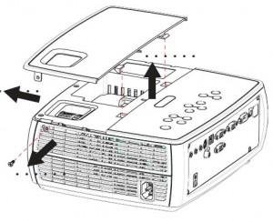 ASK Proxima A1200 projector lamp lid, ASK Proxima SP-LAMP-039